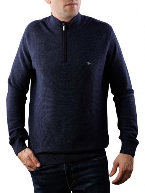Fynch-Hatton Troyer Zip Sweater navy