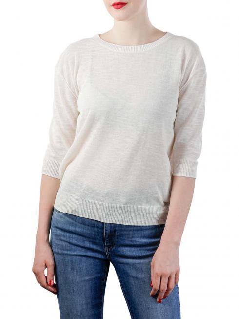 Yaya Sweater With Buttons blanc de blanc