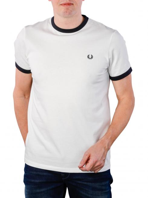 Fred Perry Ringer T-Shirt snow white