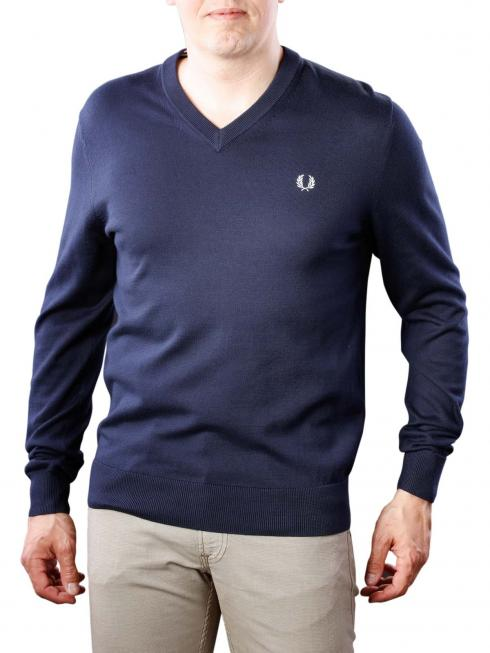 Fred Perry Classic Cotton V-Neck Sweater deep carbon