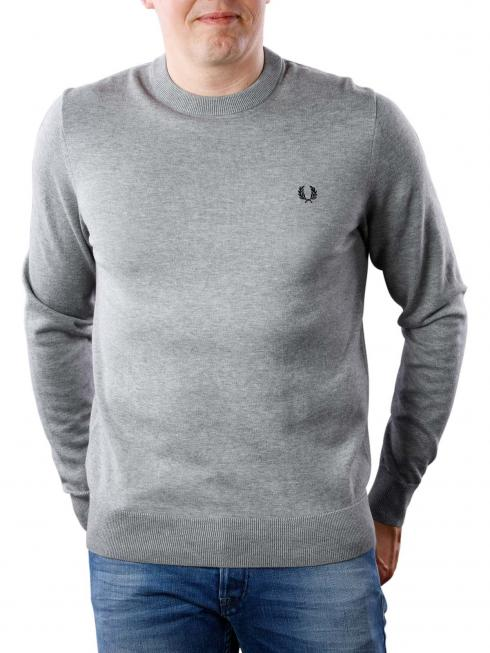 Fred Perry Classic Cotton Crew Neck steel marl
