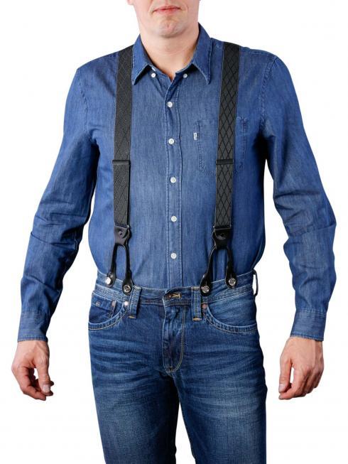 Henry Suspenders grey/black by BASIC BELTS