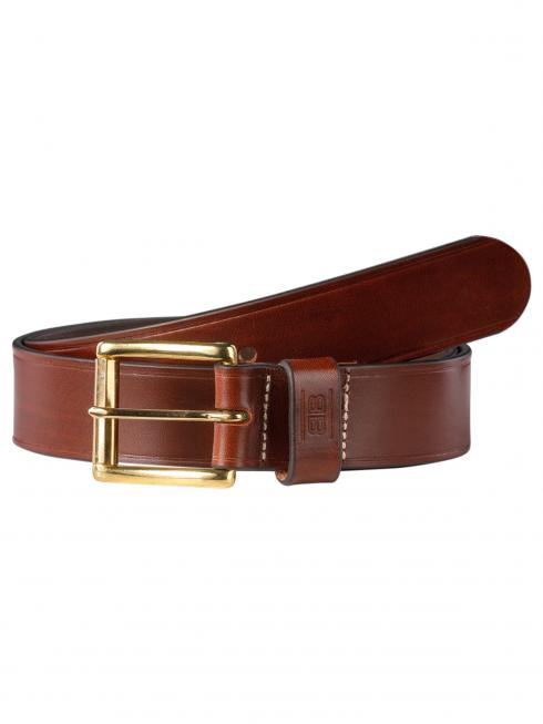 Pat Gold dark brown 40mm by BASIC BELTS