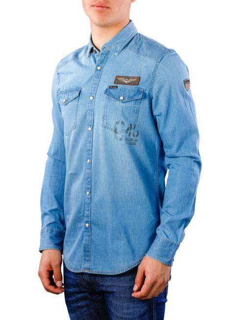 PME Legend Long Sleeve Shirt Denim 590
