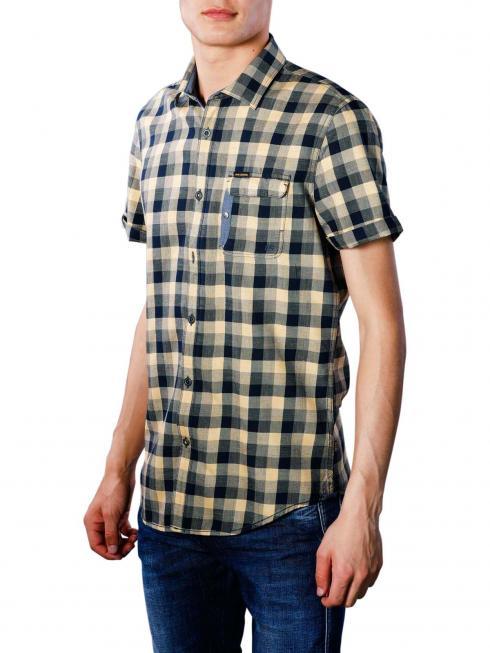 PME Legend Short Sleeve Shirt Melange Check Miro 1057