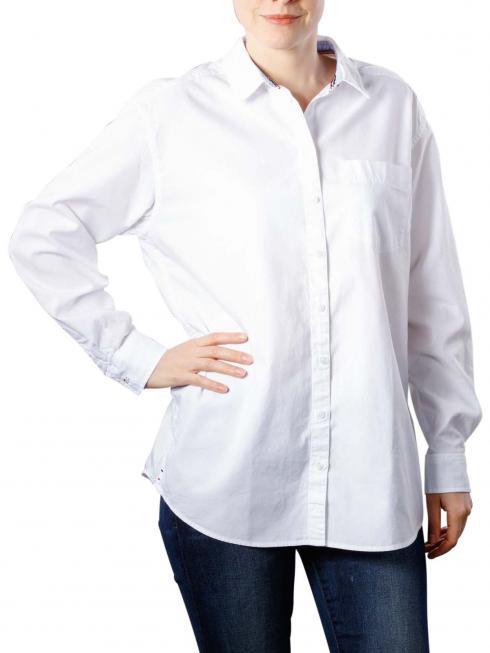 Tommy Jeans Textured Boyfriend Shirt bright white
