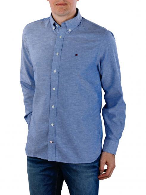 Tommy Hilfiger Cotton Linen Dobby Shirt blue quartz