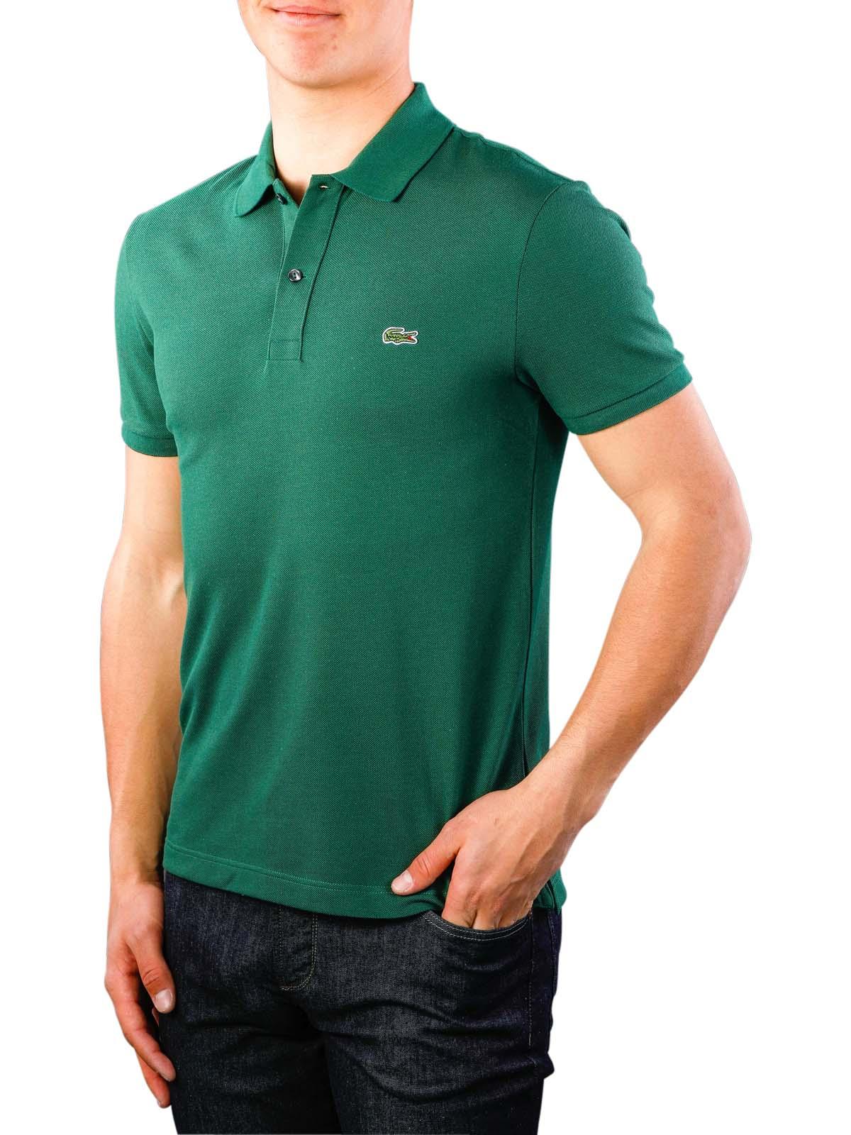 nowe przyloty klasyczne dopasowanie fantastyczne oszczędności Lacoste Polo Shirt Slim Short Sleeves vert S