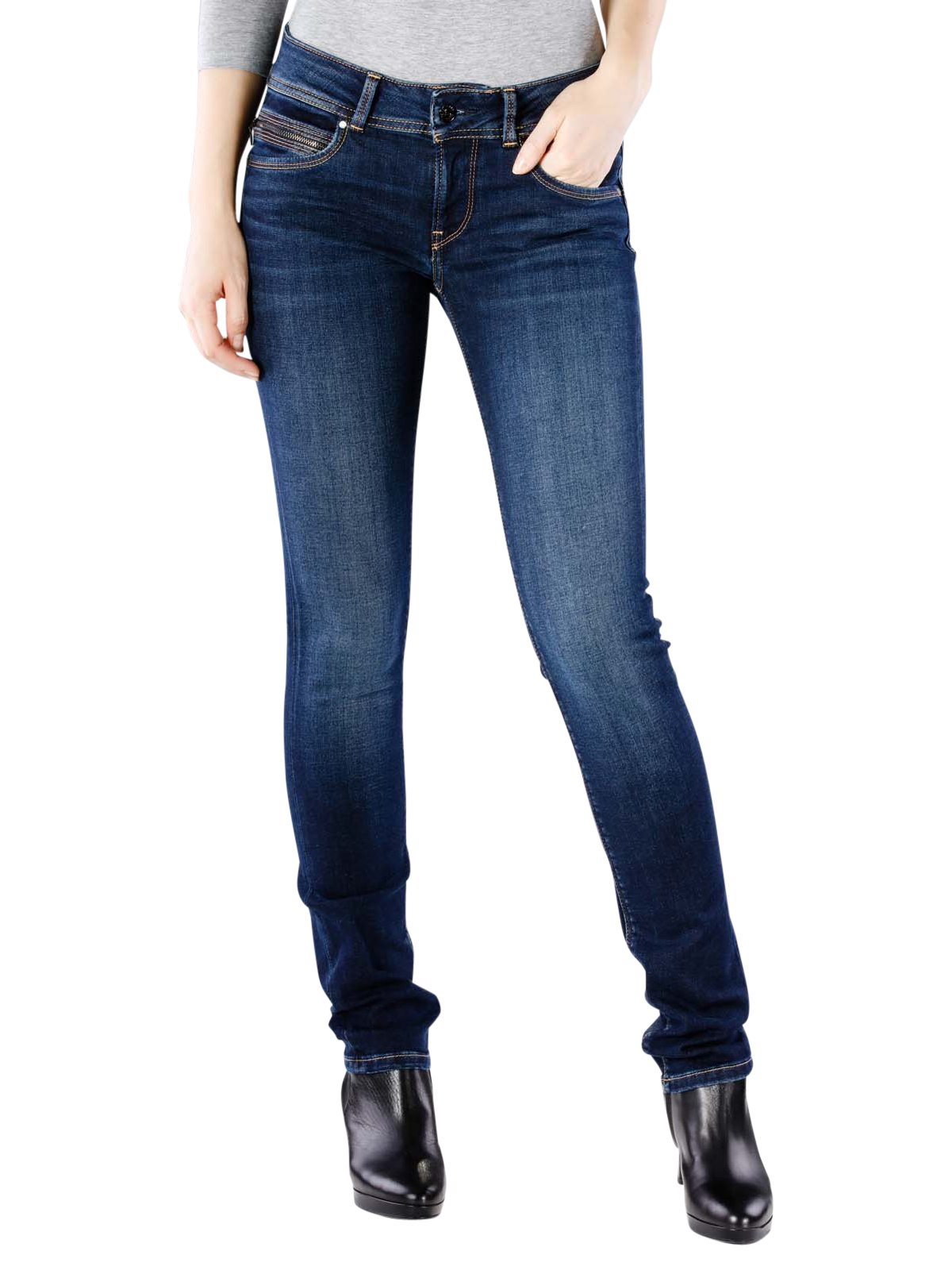 low priced fashion official photos Pepe Jeans New Brooke stretch ultra dark