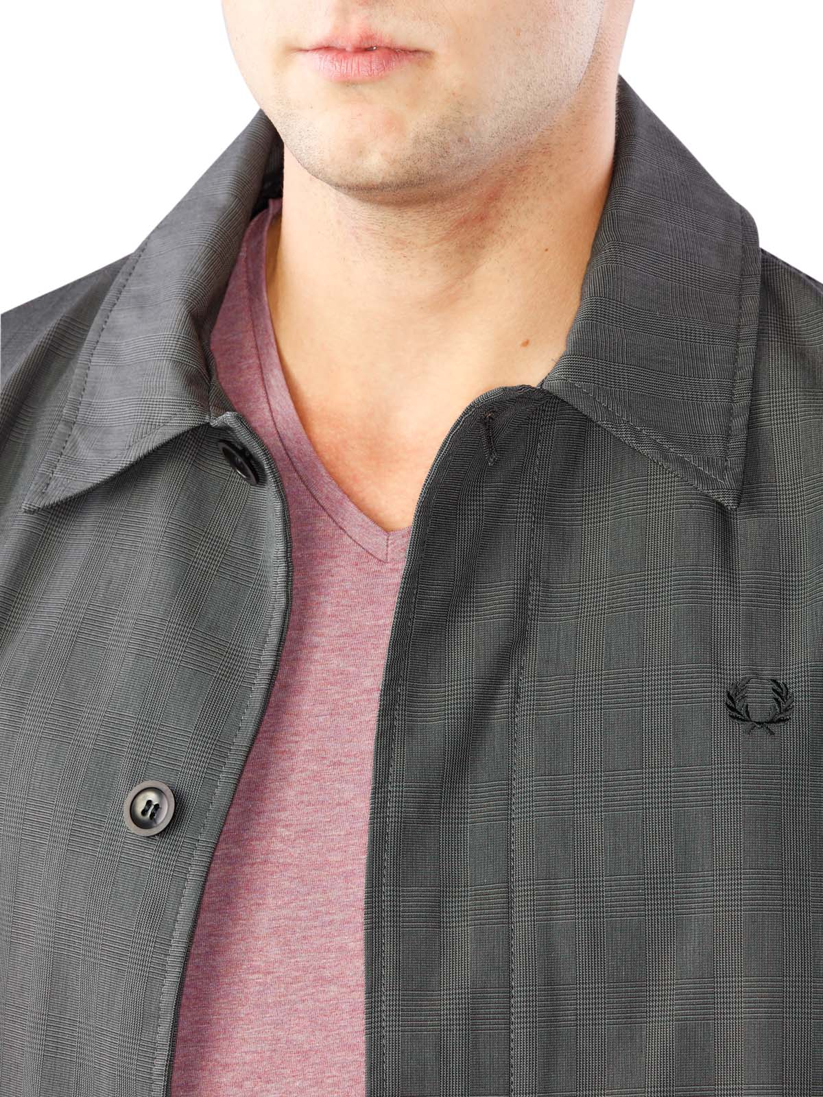 Fred Perry Prince of Wales Caban Mac Jacket graphite S